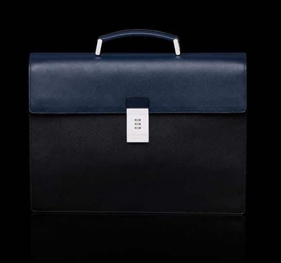 brand new 928ed b321e porta documenti in pelle blu prada nuovo