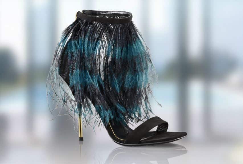 scarpe Louis Vuitton primavera estate 2014 piume