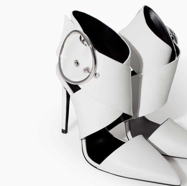 scarpe a punta primavera 2014 Zara bianche