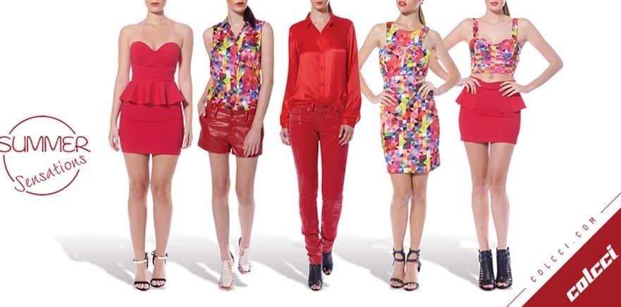 Colcci primavera estate 2014 abbigliamento rosso