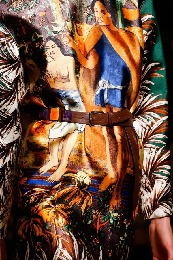 Aquilano Rimondi abito Polinesiane di Gauguin