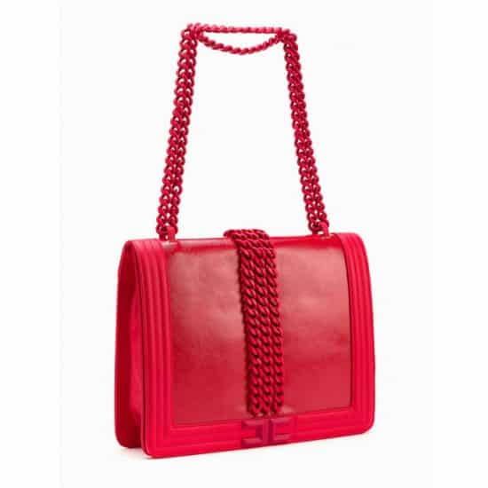 Elisabetta Franchi borsa con catena gommata 400,00 euro