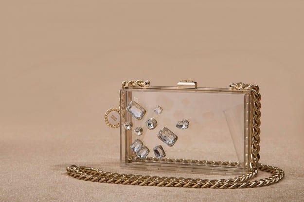 Elisabetta Franchi clutch gioiello in plexi trasparente 178,00 euro
