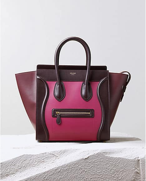 Luggage o Boston Bag Celine ai 2014 2015 orchid multicolour satin calfskin