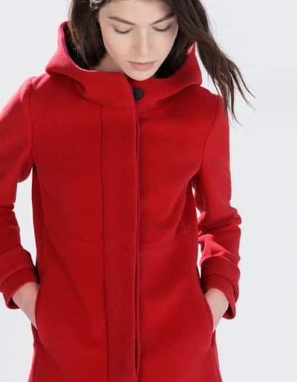 Cappotti inverno 2015 Zara Donna rosso 55b1ada1eee5