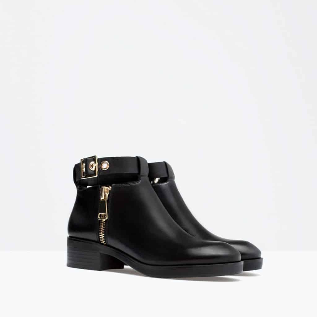 Zara stivaletto pelle basso cavigliera 79.95 euro