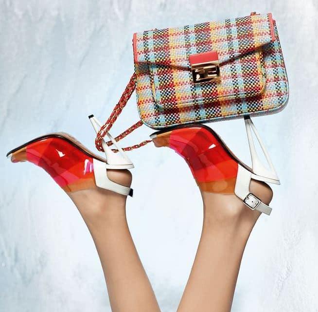 abbinare borsa e scarpe sempre Fendi colore