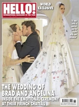 Angelina Jolie abito da sposa