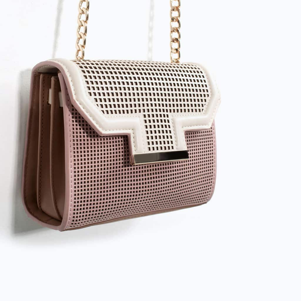 Zara borsa tracolla traforata piccola combinato 39.95 euro