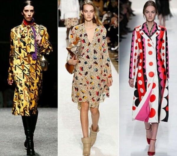moda abbigliamento inverno 2015 fantasie anni sessanta