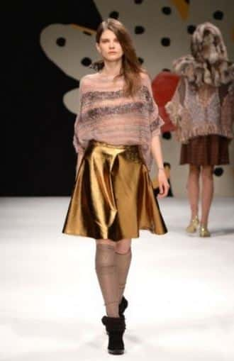 moda abbigliamento inverno 2015 oro Kristina TI