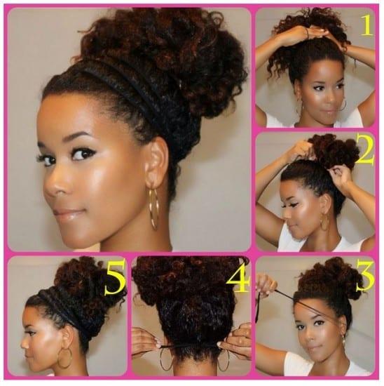 Acconciature capelli medi mossi raccolti