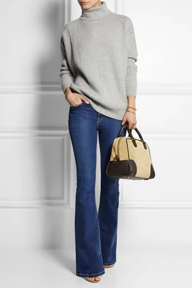 Loewe Amazona 75 suede and leather tote 1900.00 euro