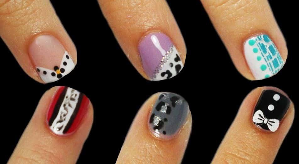 Nail art semplici per unghie corte idee