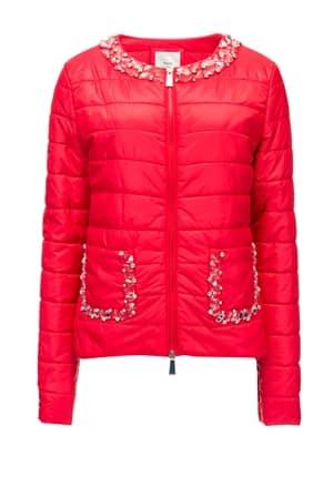 Pinko piumino nylon leggero con applicazioni gioiello 210.00 euro