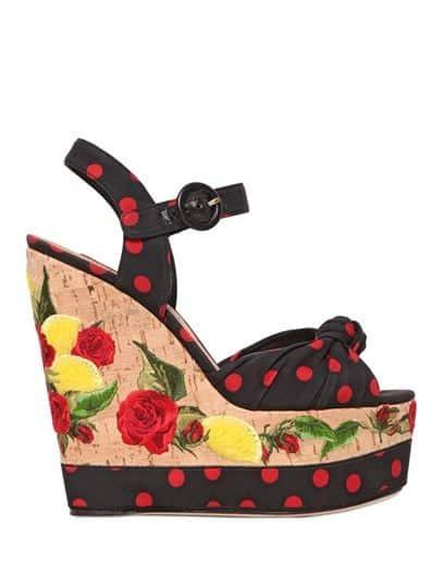 Moda scarpe primavera estate 2015 zeppe Dolce Gabbana