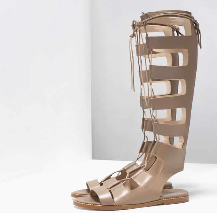 Stivali estivi 2015 Zara schiava