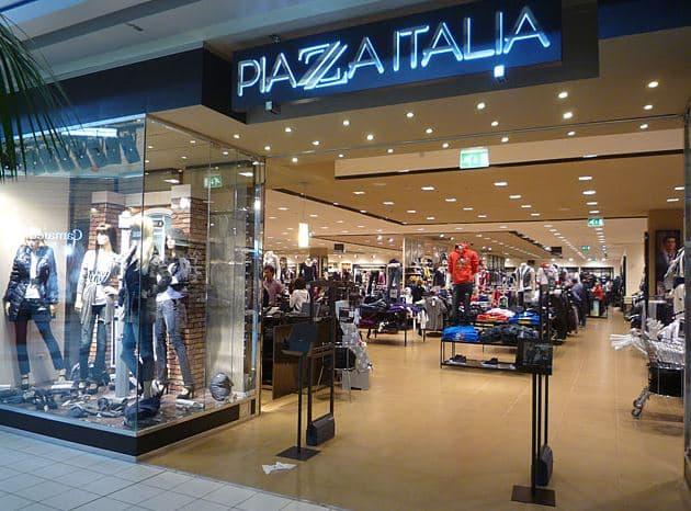 negozio abbigliamento Piazza Italia Torino