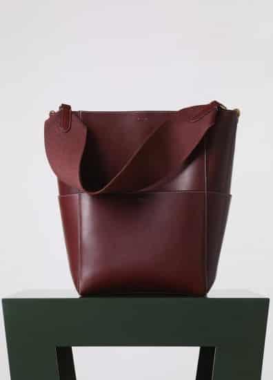Celine Sangle seau bag in burgundy d6026b3aaac