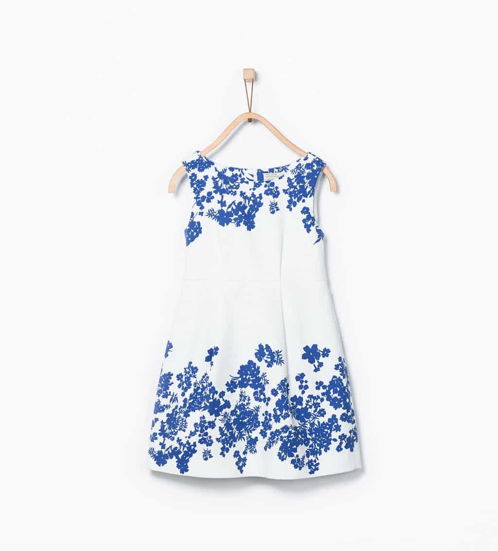 Zara bambina abito stampa fiore