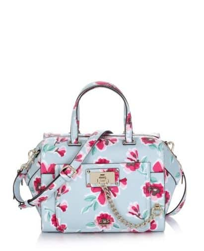 Guess Forget me not paxton satchel floral bag 145.00 euro