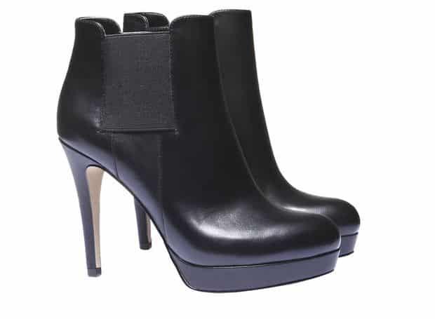 Scarpe di pelle alla caviglia con tacco a spillo - Elegante - Bata