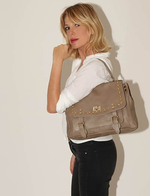 Marks Angels Lucy medium borchie e pelle taupe 220.00 euro