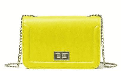 Borse Benetton primavera estate 2016 giallo