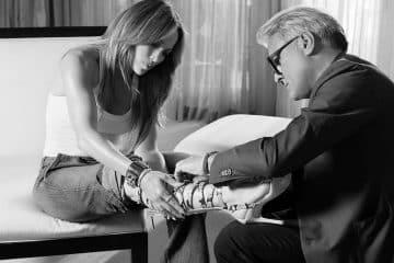 Giuseppe Zanotti con Jennifer Lopez