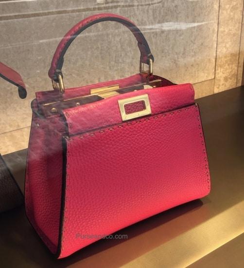Borsa FENDI rossa handbag estate 2019 prezzi foto